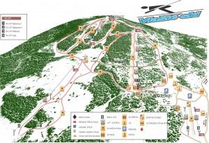 mapa za skijaliste sa logotipovima